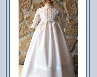 christening gown with bonett