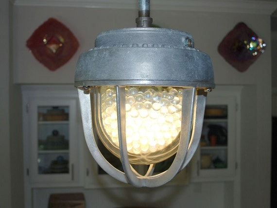 Large Crouse Hinds Industrial Pendant Light By Rustologies
