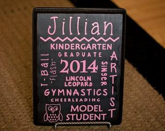 Personalized Wood Kindergarten Graduation Gift