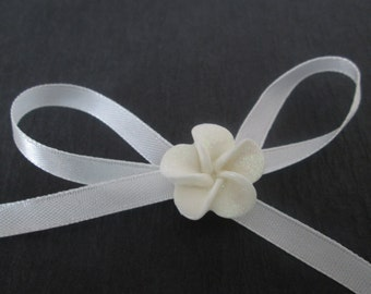 "Roll of Milk White Satin Ribbon, 25 Yards Satin Ribbon, ~1/4"" Wide White Ribbon, 6mm Wide Satin Ribbon, 22 M"