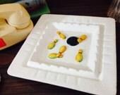 Midcentury Napco Ceramic Bowling Ashtray No Chips With Bowling Balls & Pins