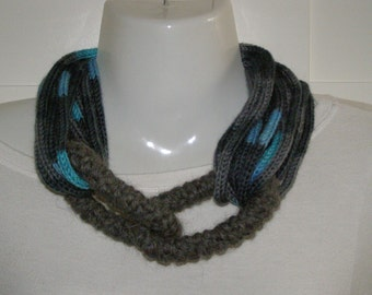 wool neck warmer necklace