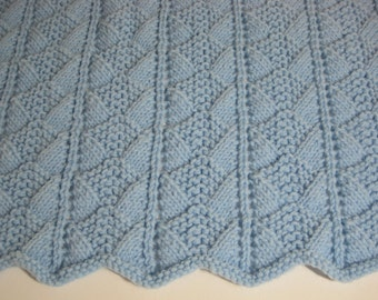 Hand Knitted, Baby Boy, Baby Girl, Baby Blanket, Baby Shower Gift, Baby Afghan, Newborn
