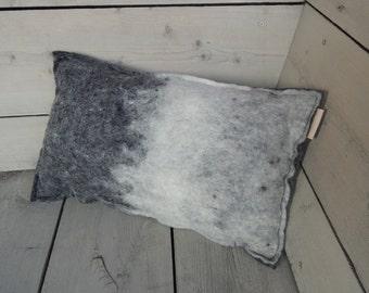 Unique pillow (wool felt) A