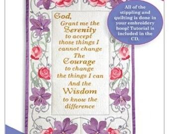 Anita Goodesign Serenity Prayer Embroidery CD