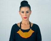 30% SALE Retro necklace,Laser Cut perspex Geometric Statement Necklace For Her, Retro fashion