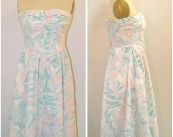SALE:  Vintage 1970's Joni Blair Pastel Dress | Pastel Dress | 1970's Dress \ Vintage Dress