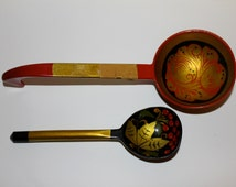 SALE!!! Vintage Hand painted Russian wooden spoons