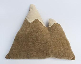 """Mountain Range Pillow - 12"""" cozy throw pillow"""