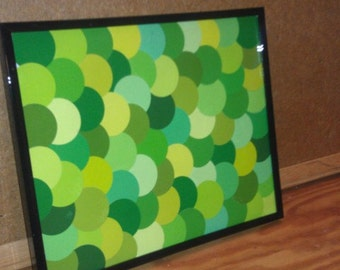 Framed Paint Chip Art - Pops O'Green!
