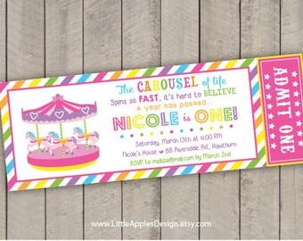 Carousel birthday / Carousel invitation / Carousel birthday invitation / Carousel invite / Carousel Party / Carousel Printable