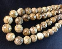 10 mm faceted  semi precious gemstone  beads(c438)