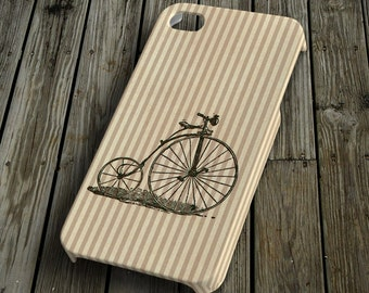 Bicycle with lines beige iPhone 4/4S Case iPhone 5 Cover Plastic iPhone 4/4S/5 Case