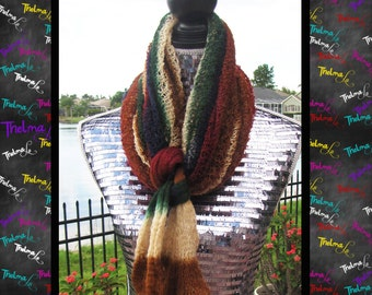 Lite weight Fall Colored Cowl Neck Infinity Scarf