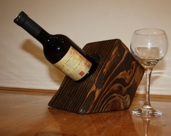 Solid wood wine holder