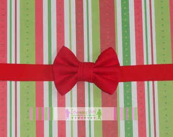 Red Christmas Holiday pre-tied Bow Tie Infant, Child, Youth, Adult