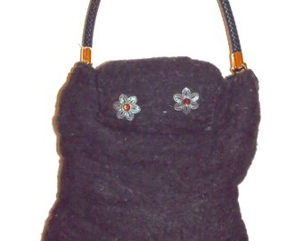 Needle Felted and Wet Felted Purse