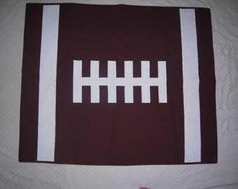 Baby Football Quilt