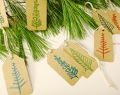 Merry Christmas Tree Tags Christmas Gift Wrap Holiday Party Favor Holiday Pacaging tags Vintage Style Simple Country Holiday Tags, Set of 12 - GreenBeltFarm