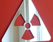 Radiation Symbol Mirror  4 Sizes Available