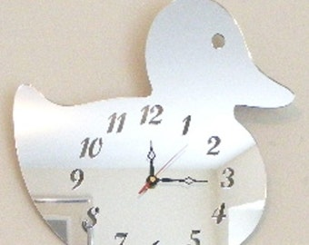 Duck Clock Mirror - 2 Sizes Available