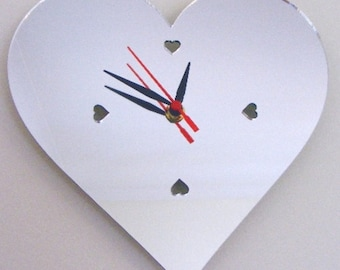 Hearts Clock Mirror - 2 Sizes Available