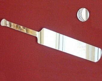 Cricket Bat and Cricket Ball Shaped Mirrors - 5 Sizes Available