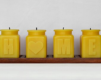 House Warming Gift Candle Set, Christmas Candles, New Home Decor, Gift for Newlyweds, Home is Where the Heart is Gift Set