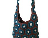 Crochet Pattern - African Flower Shoulder Bag
