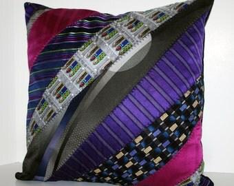 Neck Tie Decorative Pillow 18 x 18