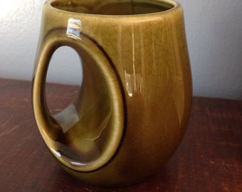 vintage 1960's mug/olive//Japanese