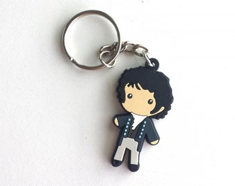 SALE* Mr. Darcy Figure Keychain Charm Necklace Jane Austen Pride & Prejudice Book Gift