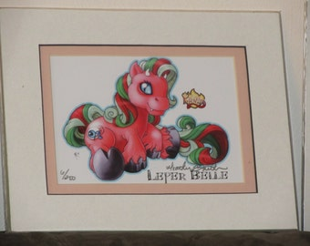 LEPER BELLE My Little Demon pony Matted Limited Edition Archival Print art