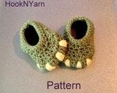 Baby Monster Dinosaur booties, crochet pattern, Booties pattern, baby booties pattern, baby shoes pattern, toddler shoes, baby booties
