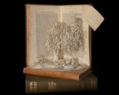 """Photographic Print of Book Sculpture 'Wind in the Willows' 10"""" x 8"""""""