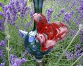 Hummingbird Feeder- Hand Blown Glass