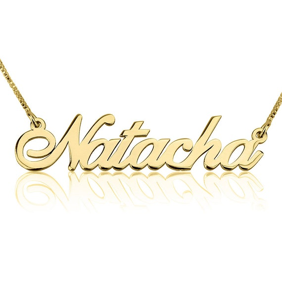 sale name necklace 24k gold plated personalized any by