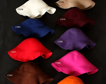Wool CAPELINES felt  in 11 colors  Felt bodies for Millinery hat hood capeline