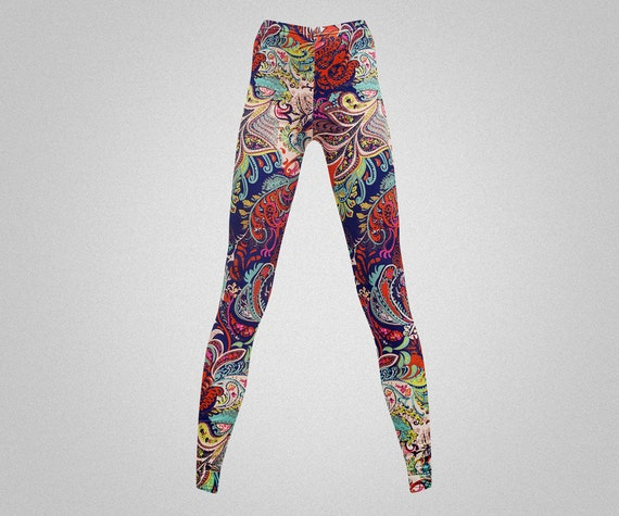 Items Similar To Psychedelic Print Leggings/yoga Pants On Etsy