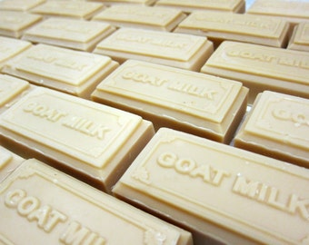 organic Goat Milk Soap Bar with GOAT MILK raised lettering
