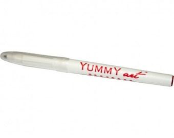 YummyArt Edible Pen Ink Marker (Red, Fine Tip)