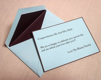 Add on - printed note card for your wedding anniversary gift