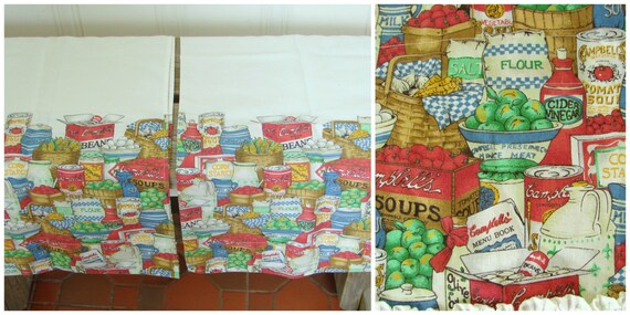 campbell s country kitchen to find vintage 50s campbell s soup abc valance 1967