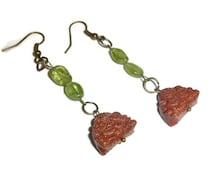 Buddha Goldstone Earrings