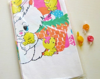 """Vintage Easter Bunny tablecloth in wraps. Paper, 52"""" x 96"""""""