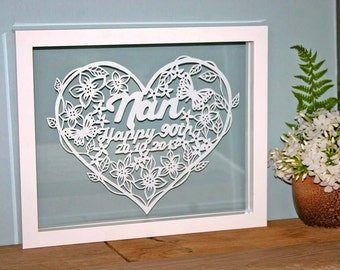 Handmade Personalised Papercut