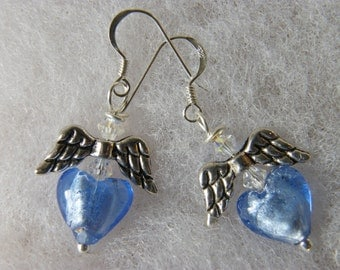 SKY Heart & Angel Wing Earrings