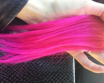 SHORTIES - Mini Coloured Human Hair Extension Clip-in Streak six inch long