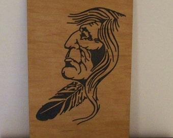 Native American art, Indian Wood Carving,  Wall Art,