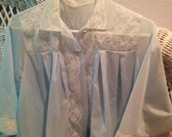 Gorgeous, Vintage, Soft Blue Bed Jacket